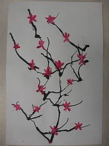 Miss Young's Art Room: 3rd Grade Japanese Cherry Blossom Trees