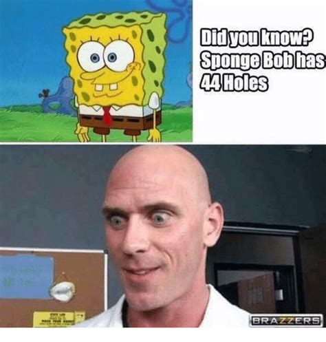 Brazzer Memes - did you know spongebob has 44 holes brazzers spongebob meme on sizzle