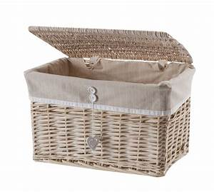 Coffre De Rangement Blanc : coffre de rangement en osier wedestock 1825 ~ Nature-et-papiers.com Idées de Décoration