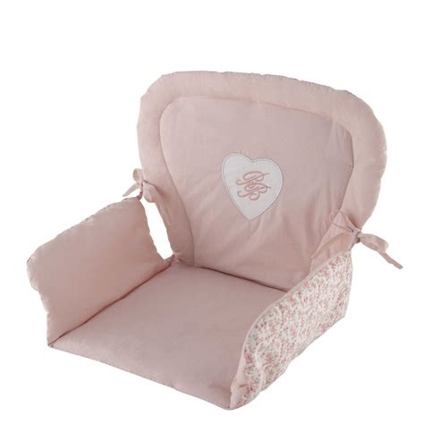coussin pour chaise haute bébé victorine baby high chair cotton cushion in pink 25 x 30cm