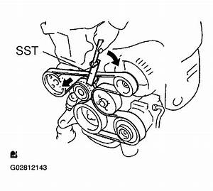 2001 Toyota Highlander Serpentine Belt Routing And Timing Belt Diagrams
