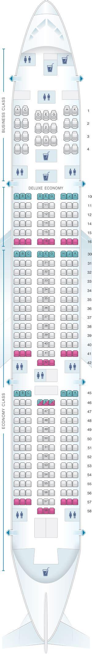 siege boeing 777 plan de cabine airlines boeing b777 200er