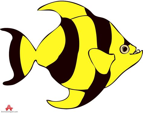 fish clipart yellow fish clip clipart best