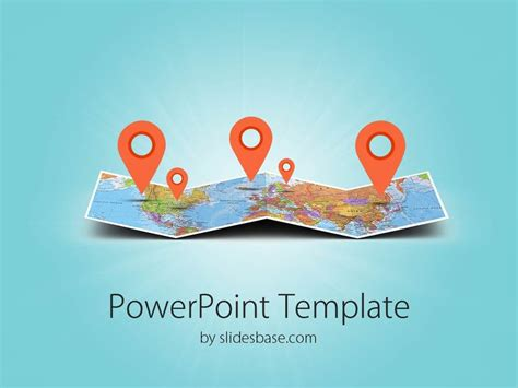 folded map travel business world map markers pin