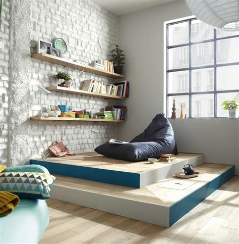 faire une chambre dans un salon catalogue leroy merlin une estrade pour créer un coin