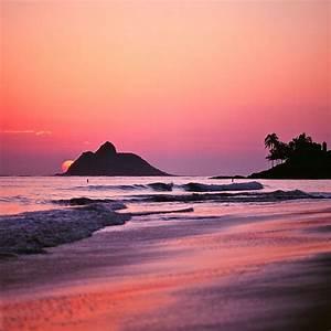 #012311 - purple sunrise, kailua, oahu, hawaii, february ...