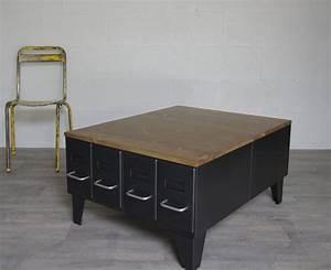 Table Basse Bois Industriel : fabriquer une table basse style industriel awesome pieds style vestiaires evids de cm pied ~ Teatrodelosmanantiales.com Idées de Décoration