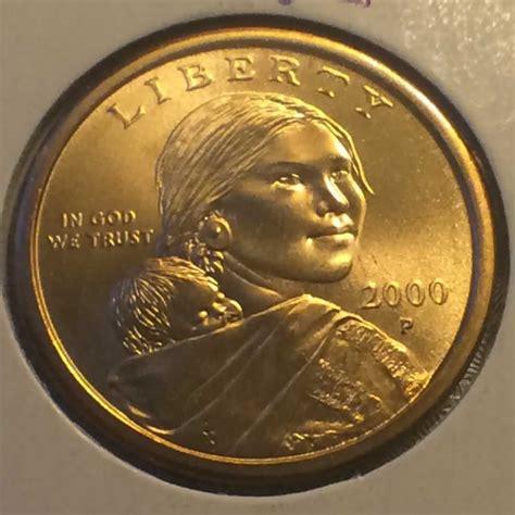 sacagawea coin 2000 p us sacagawea dollar reverse eagle design ofcc ungraded 1 ofcc 57 107