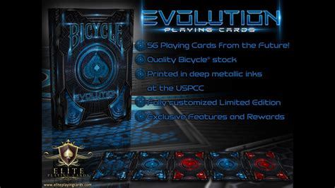 10 ace cards (a to 10) and 3 picture cards: EVOLUTION Bicycle® Playing Cards Deck by Elite Playing Cards —Kickstarter