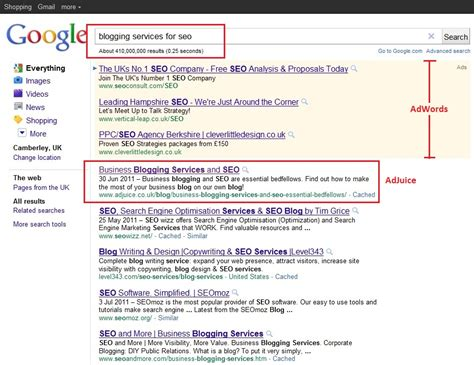 Business Blogging For Seo  Google Search Results  Adjuice® Seo Services