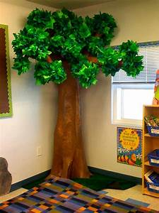Our 3 D Tree for My Forest Explorer Theme! Took forever to make, but it was worth it! teach