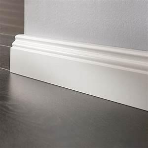 Sockelleisten Holz Weiß : logoclic sockelleiste wei 2 6 m x 17 mm x 70 mm profiliert bauhaus ~ Markanthonyermac.com Haus und Dekorationen