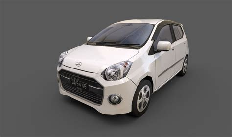 Daihatsu Ayla Backgrounds by 3d Model Daihatsu Ayla Turbosquid 1230631
