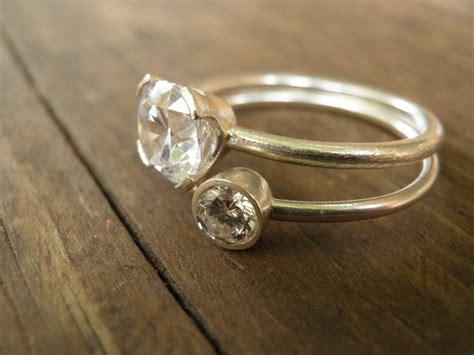 engagement rings stacking rings vintage by limorafaeli etsy