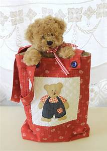 Teddy Bear Pattern For Cushion  Bag And Quilt