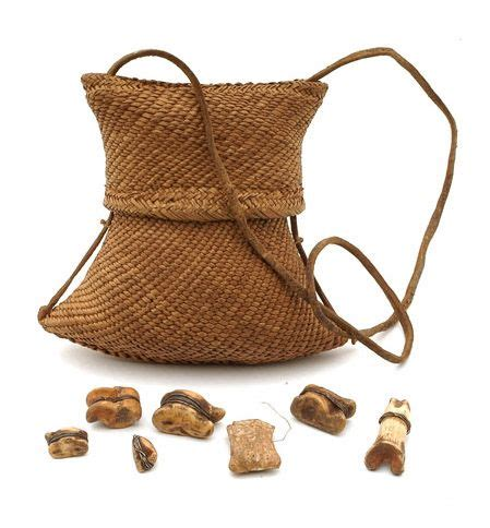 africa woven pouch containing divination objects
