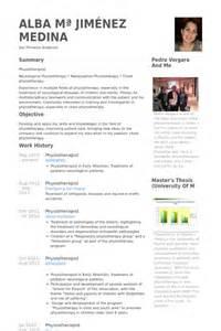 resume exle for physiotherapist physiotherapist resume sles visualcv resume sles