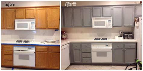 oak kitchen cabinets for amazing how a small change like painting cabinets can 7128