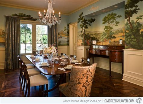 Kitchen Island Centerpiece Ideas - 20 conventional dining rooms with wallpaper murals decoration for house