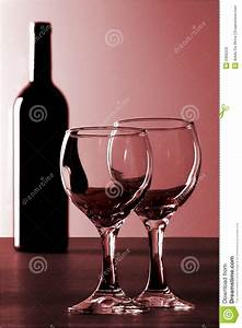 Red Wine And 2 Glasses Royalty Free Stock Image - Image ...