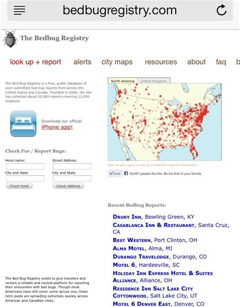 Bed Bug Registry by Bed Bug Registry Find Out If The Hotel Apartment You Re