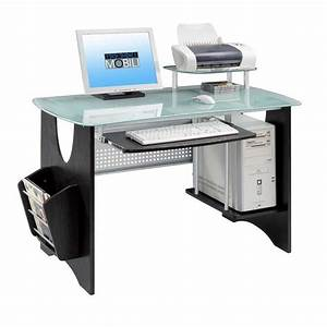 Outstanding modern office desk design with oval glass for Work desks home