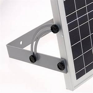 Fixation Panneau Solaire : support de fixation panneau solaire j20 30w projecteurs ~ Dallasstarsshop.com Idées de Décoration