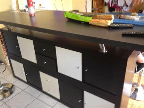 separation cuisine salon pas cher table de bar avec kallax