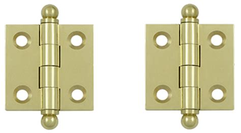 1 1 2 inch x 1 1 2 inch solid brass cabinet hinges unlacquered brass finish
