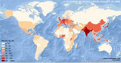Population Density Countries 2000 Vivid Maps