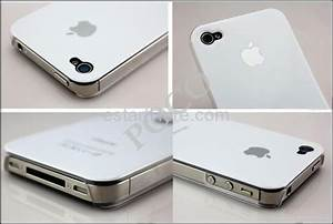 Apple Logo White Crystal Hard Case Cover for iPhone 4 4S ...