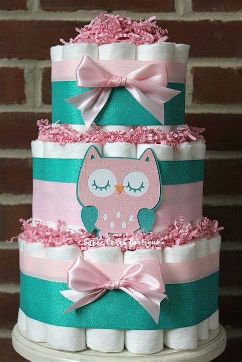 Teal And Pink Baby Shower Decorations by Best 25 Owl Cakes Ideas On