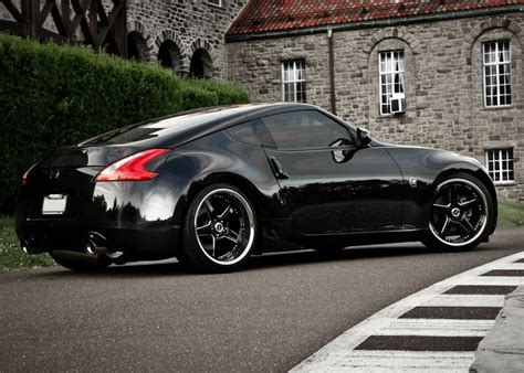 nissan 370z modified black nissan 350z 370z custom wheels elementwheels com
