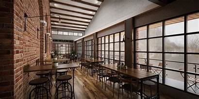 3d Industrial Restaurant Interior Sketchup Render Models