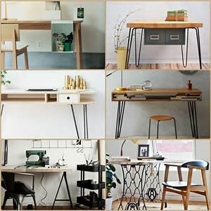 Schreibtisch Wohnzimmer Lösung : diy projekt schreibtisch selber bauen 25 inspirierende beispiele und ideen ~ Markanthonyermac.com Haus und Dekorationen