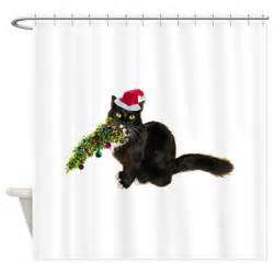 cat shower curtain cat tree shower curtain by catsclips