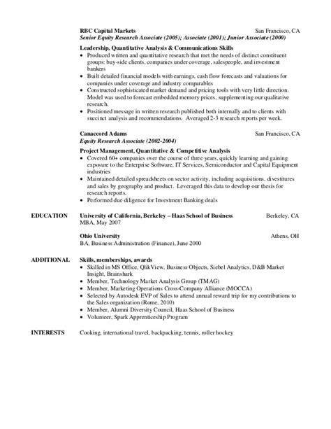 Equity Research Resume by Professional Equity Research Associate Resume