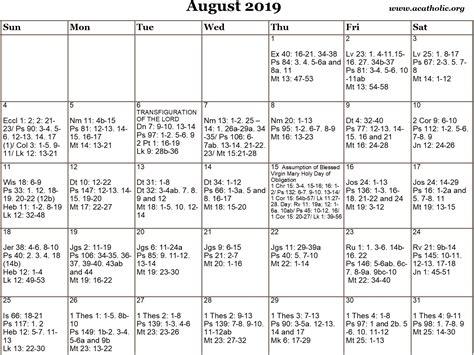 monthly calendar   catholic daily mass readings