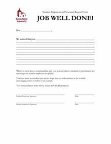 sample letters of recognition for job well done