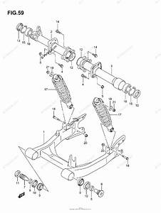 Suzuki Atv 2006 Oem Parts Diagram For Rear Swingingarm