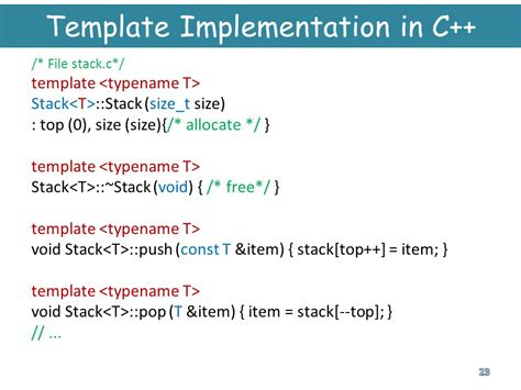 template typename c programming languages ppt