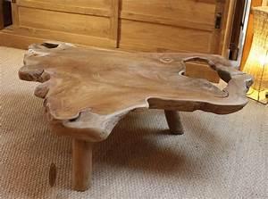 Table Bois Massif Brut : table basse en bois naturel table de lit ~ Teatrodelosmanantiales.com Idées de Décoration