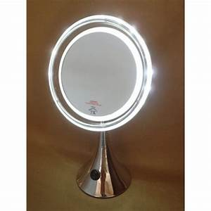 miroir grossissant lumineux sur pied With miroir grossissant sur pied