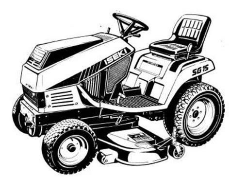 iseki sg15 operators parts manual sku 268 manuals a