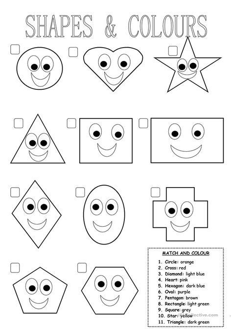shapes and colours worksheet free esl printable