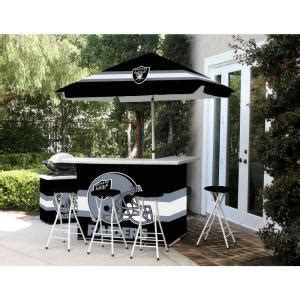 best of times oakland raiders all weather patio bar set