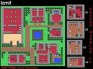 Town, Maps, Page, 1, U0026gt, Dragon, Warrior, Iv, Nes, U0026gt, Dragons, Den
