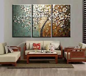 Panel abstract wall art cheap modern handmade tree