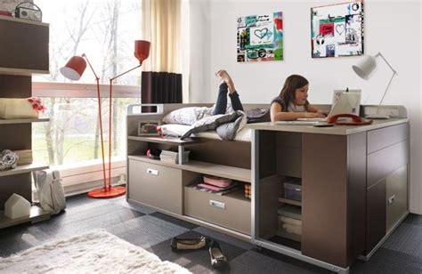 lit bureau gautier lit pour adolescent avec rangement et bureau dimix gautier