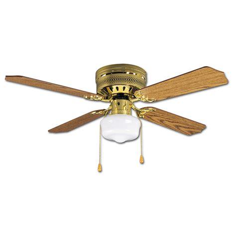 42 flush mount ceiling fan without light shop litex celeste 42 in polished brass flush mount indoor